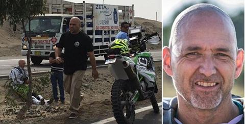Motociclista-aleman-primera-baja-en-el-Dakar:-choco-antes-de-competir-en-la-primera-etapa