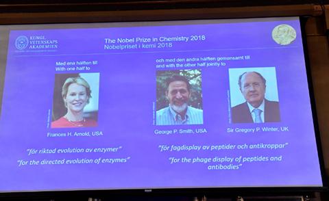 Los-cientificos-Arnold,-Smith-y-Winter-ganan-el-Nobel-de-Quimica-2018