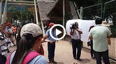 Vecinos-de-Porongo-protestan-en-Parques-y-Jardines,-exigen-construccion-de-puentes