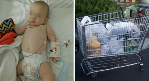 Un-bebe-casi-muere-tras-infectarse-con-un-carro-de-compra-en-un-supermercado