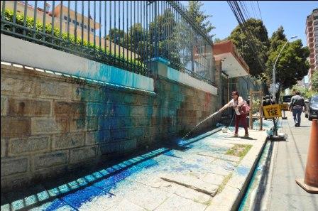 Resultado de imagen para pintan azul el TSE