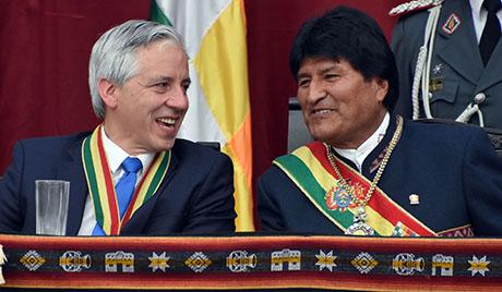 Evo-dice-que-la-derecha-busca-enfrentarlo-con-Garcia-Linera