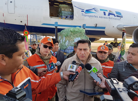 Bolivia-envia-46-toneladas-de-ayuda-humanitaria-a-Guatemala-para-afectados-por-erupcion-de-volcan--Fuego-