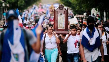 Nicaragua:-miles-de-personas-marcharon-para-apoyar-a-la-Iglesia,-en-rechazo-a-las-criticas-del-regimen-de-Ortega