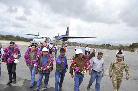 Despues-de-una-decada-de-espera,-autoridades-entregan-el-aeropuerto-de-Apolo