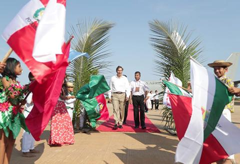 El-Presidente-de-Peru-llego-a-Pando-para-instalar-el-Gabinete-Binacional-con-Bolivia