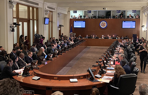 Áspera-Sesion-de-Emergencia-en-la-OEA:-EEUU-anuncia-20-millones-de-dolares-inmediatos-para-Venezuela