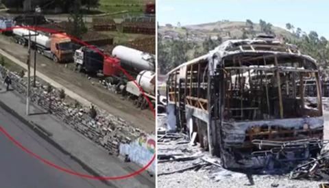 Movilizados-usaron-dinamitas-en-Senkata-y-bombas-molotov-en-quema-de-PumaKataris