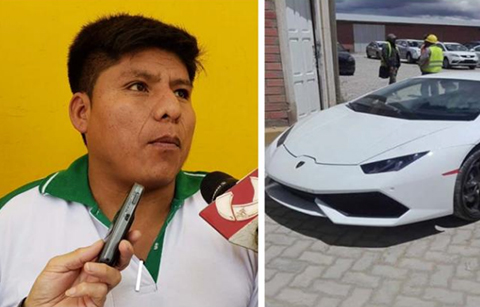 Loza-niega-que-el-Lamborghini-que-llego-a-Cochabamba-sea-suyo-y-Aduana-evita-dar-informacion