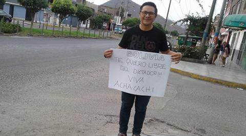 Peru-concede-refugio-politico-al-lider-de-Achacachi,-Elsner-Larrazabal