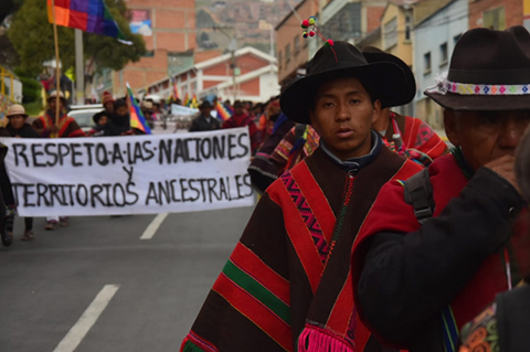 Nacion-Qhara-Qhara-llega-a-La-Paz-y-rechaza-acusaciones-del-ministro-Romero