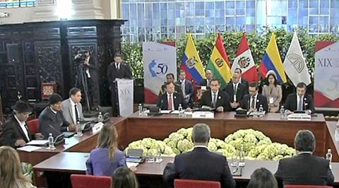 Bolivia-asume-la-presidencia-pro-tempore-de-la-CAN-y-propone-impulsar-la-marca-andina