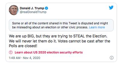 -Enganoso-:-Twitter-alerta-sobre-un-tuit-en-el-que-Trump-acusa-de-fraude-a-los-democratas