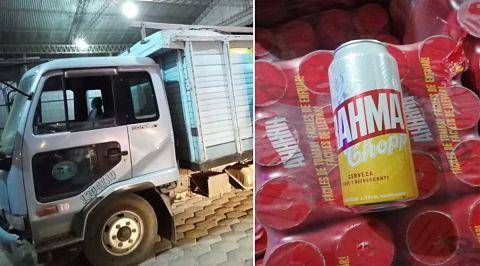 Decomisan-en-Yacuiba-un-camion-con-cerveza-de-contrabando-valuada-en-$us-15.000