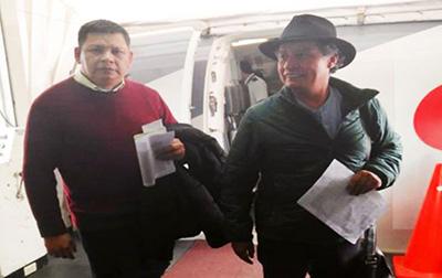 Cesar-Navarro-y-Pedro-Damian-Dorado-finalmente-partieron-rumbo-a-Mexico