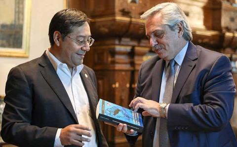 Presidente-argentino-recibe-a-Luis-Arce-en-la-Casa-Rosada