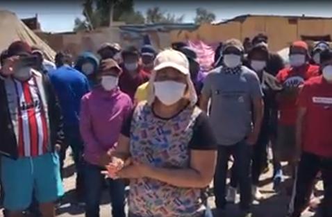 Tanto-gobernador-de-Oruro,-Defensora-del-Pueblo-y-Derecho-Humanos-alertan-dificil-situacion-de-250-bolivianos-en-Huara,-Chile