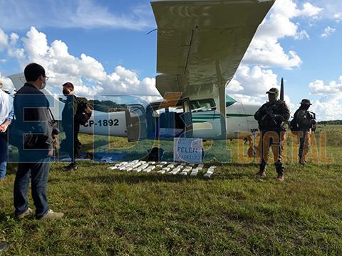 Incautan-avioneta-con-400-kilos-de-droga-en-Beni-