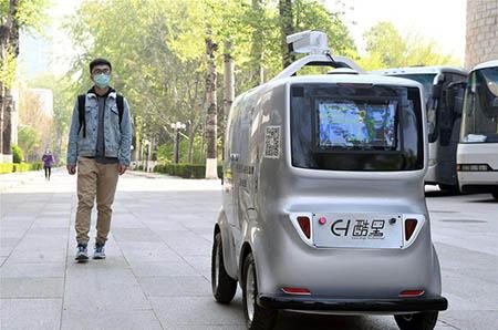 Crean-Vehiculo-de-reparto-no-tripulado-equipado-con-tecnologia-5G-que-puede-medir-temperatura-de-las-personas