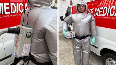Crean-traje-inflable-que-protege-del-covid-19-y-mantiene-frescos-a-los-paramedicos-en-Mexico