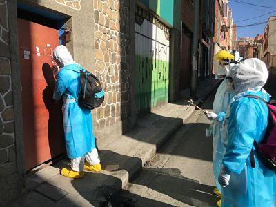 Brigadas-medicas-inician-rastreo-de-casos-de-COVID-19-en-la-zona-El-Tejar-de-La-Paz