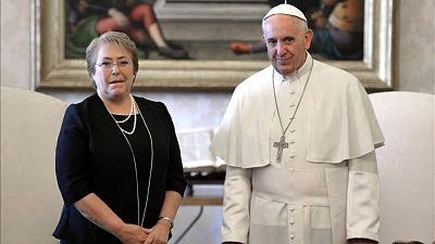 Francisco-recibio-a-Bachelet,-con-America-Latina-y-la-pandemia-en-la-agenda