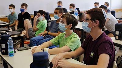 Con-el-coronavirus-aun-sin-control,-Israel-reabre-las-escuelas-bajo-fuertes-medidas-sanitarias