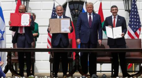 Israel-firma-acuerdos-de-paz-con-EAU-y-Barein-en-una-ceremonia-en-la-Casa-Blanca