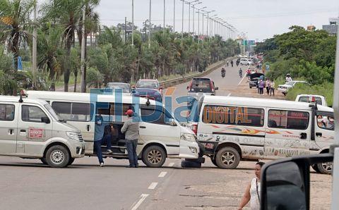 El-85%-del-sector-transporte-acato-paro-y-bloqueos