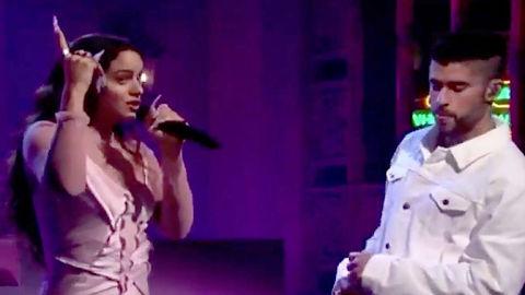Rosalia-y-Bad-Bunny-revolucionaron-el--Saturday-Night-Live--cantando-en-espanol